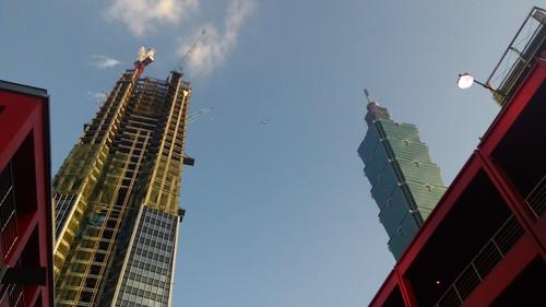 台北101和南山廣場 Taipei 101 and Nan Shan Plaza