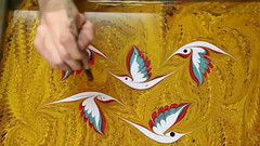 Turkish Artist Garip Ay Art Studio Paints On Water Using One Of The Oldest Turkish Art Techniques Called Ebru (jh.siesta) Tags: water studio artist using oldest turkish called paints techniques ebru garip