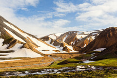 Landmannalaugar (Anthony Gehin) Tags: summer mountain snow hot color trek river iceland spring rhyolite lagavegur