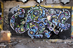 Tekar (Tekar !) Tags: streetart canada newfoundland painting graffiti rat mural stjohns redcliffs urbanart figure 2012 militarybase abstracted radarbase ruralgraffiti ruralart aerosolpaint tekar