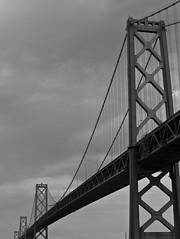 Bay Bridge (Steve Kocino) Tags: sanfrancisco california blackandwhite baybridge g10 canonpowershotg10 canong10 powershotg10