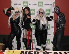 Black Cats, Psylocke, and Spider-Man (FranMoff) Tags: blackcat costume cosplay spiderman comiccon 2012 psylocke costumer bostoncomiccon bostoncomiccon2012