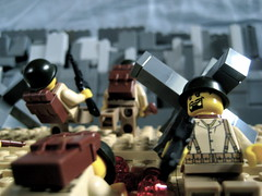 Omaha Beach FP (℣℩ƙ℩ℵℊ424) Tags: world 2 beach war day lego d wwii perspective ii german american ww2 omaha forced fp dday
