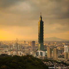 Cloudy Taipei / Taipei, Taiwan (yameme) Tags: longexposure sunset canon taiwan explore taipei taipei101       101    1635mmlii 5dmarkii