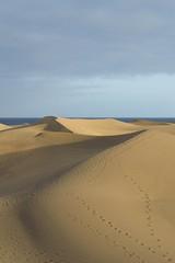 Sand dunes at Maspalomas, Gran Canaria (mikeplonk) Tags: sea sky espaa grancanaria spain sand nikon dunes footprints canaryislands islascanarias maspalomas playadelingles d3100