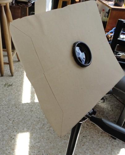 Binóculo (monóculo) con pantalla para crear sombra