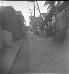 0733 (nori 4_4) Tags: slope yokohama japan  bw shanghaigp3 kodak d76 13 dacoradaci boxcamera selfdeveloped