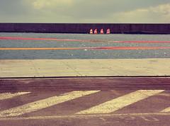 . (Catherine...) Tags: blue orange france water nice eau bleu couleur méditerranée artlibre