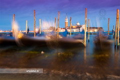 Venecia. (arturii!) Tags: trip travel venice sunset sea seascape church water beauty architecture night speed wow landscape island boat amazing nice movement construction holidays italia sailing tour superb magic awesome great route exposition stunning viatge stick moment venecia venezia vacations impressive gondolas gettyimages piazzasanmarco isola gondole mediterrenean timing veneto longexposition twinlight interestin canoneos400d colorphotoaward arturii arturdebattk sangiorgomagliore