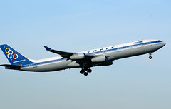 SX-DFC (airlines470) Tags: olympic a340 cdg ath 280 sxdfc n280ks