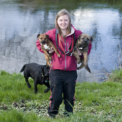 Kirsty and Bella and Enzo and Max (Kayleigh McCallum) Tags: uk boy red dog pets max cute nature girl animal puppy photography scotland nikon labrador enzo bella mammals kirsty 2012 borderterrier blacklabrador