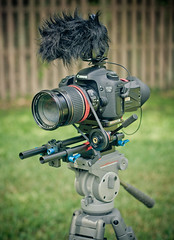 Canon 7D video setup (May 2012) (Cameron Moll) Tags: railsystem canon7d rodemic ezfoto 50dollarfollowfocus