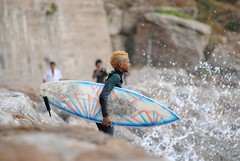Young surfer, meet The wave ! (SalmaZag') Tags: boy beach water kid punk surf surfer wave morocco maroc surfboard rabat youg yellowhair oudaya kassbahdesoudayas