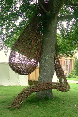 'Legume' at the Garden Show in Stansted (Mark and Rebecca Ford Art Sculpture) Tags: show sculpture tree art grass garden design pod westsussex hampshire tent exhibition climbing willow hazel installation growing woven fabaceae statelyhome stansted legume chichester leguminosae rowlandscastle plantform westdeangarden southdownsnationalpark thegardenshow stanstedandwestdean