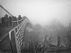 Haunted (MMortAH) Tags: york autumn people bw white mist black fall fog river 50mm nikon 14 explore nikkor afs textured d90 brigdge