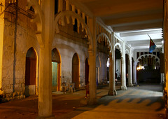 Ottoman Building At Night In Massawa, Eritrea (Eric Lafforgue) Tags: africa shadow color colour horizontal architecture outdoors photography arcade nobody nopeople massawa eritrea hornofafrica coastaltown eastafrica batsi eritreo ottomanempire erytrea 7228 eritreia italiancolony  massaoua ertra    eritre eritreja eritria  rythre     eritre eritrja  eritreya  erythraa erytreja     colonialitalianarchitecture italiancolonialempire