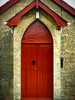 Red! (Nuzulu) Tags: door red church archway
