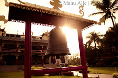 Prayer bell@ Namdroling monastery,coorg (Manogna Reddy) Tags: india temple golden bell prayer monk monastery karnataka lamas coorg nagar namdroling budhism kushal madikere bushists