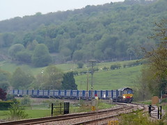 The Tesco Liner (Jim the Joker) Tags: train railway tesco freight liner generalmotors stokesay class66 drs directrailservices 66430 lessco 4m36 themarchesline