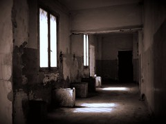 Savona con Meg (fotomie2009) Tags: italy monochrome sepia monocromo san italia paolo decay liguria abandon vecchio rovine ospedale abbandono savona