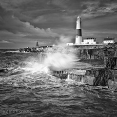 Portland Bill (images through a lens) Tags: ocean uk sea lighthouse monochrome europe unitedkingdom britain dorset weymouth portlandbill