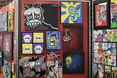 Art show (FelixSticker) Tags: streetart art graffiti acrylic gallery felix stickers paintings canvas artshow combos felixsticker charachterart
