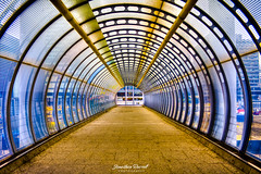 Path to Canary Wharf - Poplar Station (Jonathan.Russell) Tags: street urban detail london glass lines canon construction flickr poplar foto path tube tunnel vision canarywharf narrow leading hdr watermark cityoflondon togs tfl diaganol 40d jonathanrussell promoteu jonooter