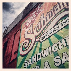 Schmaltz's Sandwich Shoppe Wall Mural Waco Texas IMG_7763 (Dallas Photo Today) Tags: wall mural downtown texas waco sandwich riverfront shoppe schmaltzs