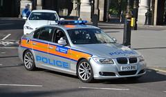 Metropolitan Police / BMW 352d / Area Car / BVN / BX59 BVU (Chris' 999 Pics) Tags: old uk blue light england woman man film speed lights bill pc nikon bars pix order fuji cops united nick fine blues samsung king