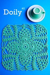 Doily & Mat Series: Doily #2 (Sewing Daisies) Tags: japanese pattern handmade crochet doily tablemat