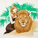 "Blonde with a Lion • <a style=""font-size:0.8em;"" href=""http://www.flickr.com/photos/62692398@N08/7296980200/"" target=""_blank"">View on Flickr</a>"