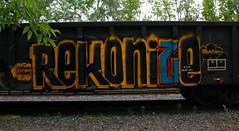 Rekonize (The Braindead) Tags: street art car minnesota train bench photography graffiti interesting junk paint flickr painted tracks cities minneapolis twin rail explore most beyond nk the braindead flickrs rekonize thebraindead
