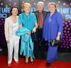 Gay Byrne & wife Kathleen Watkins with daughters Suzy and Crona The 50th Anniversary of 'The Late Late Show' at RTE Studios Dublin, Ireland