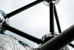 A Tangled Web Is Woven - Atomium, Brussels (Janicskovsky) Tags: brussels panorama holiday building slr metal architecture contrast french nikon iron belgium steel tubes highcontrast bruxelles panoramic architect exposition sphere cube belgian dslr magnified flemish spheres atomium atom worldsfair francais flanders magnification panoramicview heizel heysel d80 expo1958 nikond80 andrwaterkeyn ironcrystal boulevardducentenaire