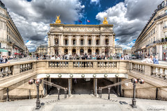 Opera Garnier from the metro station exit. (loic80l) Tags: city paris france opera europe ledefrance iledefrance hdr highdynamicrange ville cityoflight cityoflove villelumire geo:city=paris camera:make=canon exif:make=canon exif:iso_speed=100 exif:focal_length=16mm geo:countrys=france exif:lens=ef1635mmf28liiusm geo:state=ledefrance exif:aperture=80 exif:model=canoneos5dmarkiii camera:model=canoneos5dmarkiii geo:lon=23322222222217 geo:lat=48870833333333