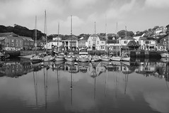 Padstow Harbour - Reflections (Rob Tarren) Tags: reflection boats dock cornwall harbour fujifilm mast padstow x100 padstowharbour