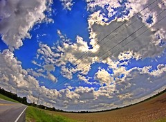 (Jamie Smed) Tags: road blue ohio sky usa cloud clouds rural canon lens photography eos rebel prime focus midwest skies farm country wideangle fisheye fixed manual roads dslr manualfocus hdr cloudporn app smalltown 2012 500d fixedfocus handyphoto smed rokinon teamcanon t1i iphoneedit rokinin snapseed jamiesmed appjamie