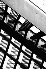 abstract shadows (lucymagoo_images) Tags: shadow bw white abstract black monochrome lines wall architecture stairs grid shadows play geometry patterns steps architectural diagonal repetition shadowplay grids lucymagoo lucymagooimages