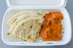 Butter Chicken from Grounds for Appeal ($8.25) (qasic) Tags: food chicken bread rice indian curry naan