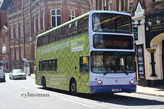 First York 32266, LT52WWM. (EYBusman) Tags: york city west bus london home volvo coach south yorkshire centre capital north transport first advert alexander overall sense citybus fishergate alx400 b7tl 32266 centrewest vnl32266 lt52wwm eybusman
