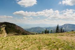 Widok z Klimczoka. W oddali Beskid Żywiecki z Pilskiem i Babią Górą (czargor) Tags: mountains landscape hill mountainside beskidy beskidslaski klimczok