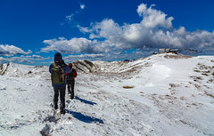halfway (Alessandro Iaquinta) Tags: blue friends sky mountain snow canon landscape reflex colours adventure dslr