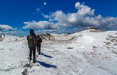 halfway (Alessandro Iaquinta) Tags: blue friends sky mountain snow canon landscape reflex colours adventure dslr