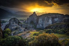 The Divine Light (skorpios_) Tags: sunset landscape nikon rocks wide hellas greece nikkor orthodox ultrawide meteora 1635 monasteries kalabaka d810 wbpa nikond810 nikkor1635f4gedvr