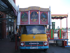 Insect Circus Museum Morecambe Lancashire. (Bennydorm) Tags: show greatbritain england sign museum truck bedford circus insects lancashire entertainment lorry novelty roadside morecambe bedfordmotors