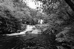 Cedar Run (Beau Finley) Tags: park blackandwhite bw monochrome mono virginia waterfall nationalpark hike trail shenandoah catarata shenandoahnationalpark beaufinley