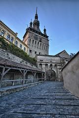 Sighisoara, Romania (ott.geoffrey) Tags: clock dracula clocktower spire cobblestone romania sighisoara vlad