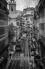 Rua (www.giorgiopuddu.com) Tags: street city travel bw portugal blackwhite strada lisboa tram explore porto citt lisbona portogallo d3100
