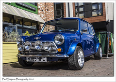 Blue Mini H385 HPC (Paul Simpson Photography) Tags: blue car mini lincolnshire lincoln vehicle motor carshow classicmini photosof imageof photoof imagesof sonya77 paulsimpsonphotography spring2016