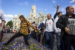 _MG_7303 72ppp (MarcosJzMz) Tags: madrid people aniversario flores flower color colour libertad gente welcome libre cibeles manifestation manifestacin 15m refugiados refugess welcomerefugess